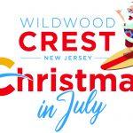 Wildwood Crest Christmas In July Logo