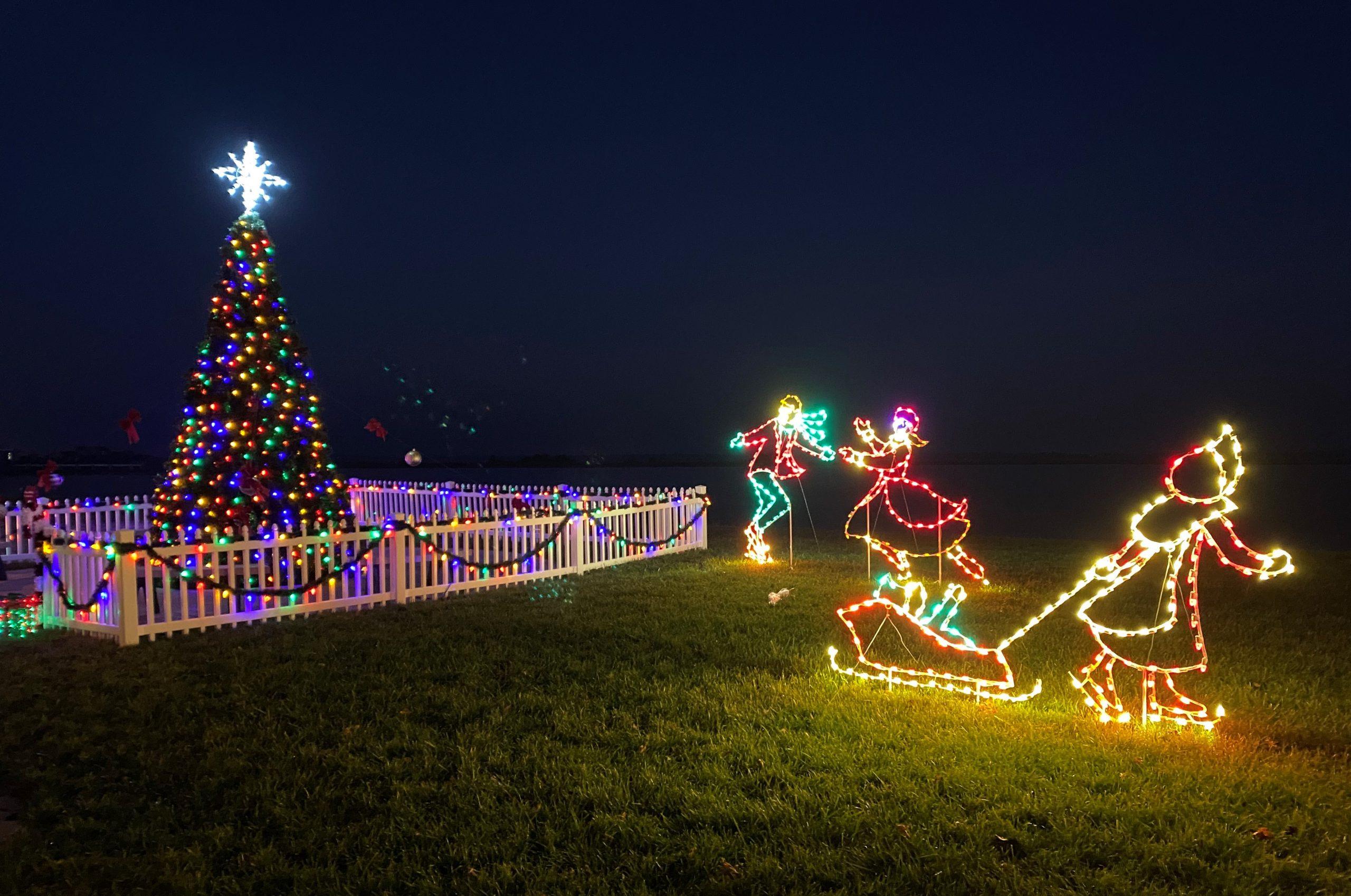 Sunset Lake lights 2020 scaled