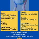 Flyer Cape May Couny COVID Awareness Day and Health Fair page