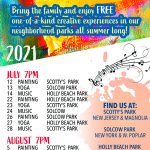 Arts in the Parks with dates