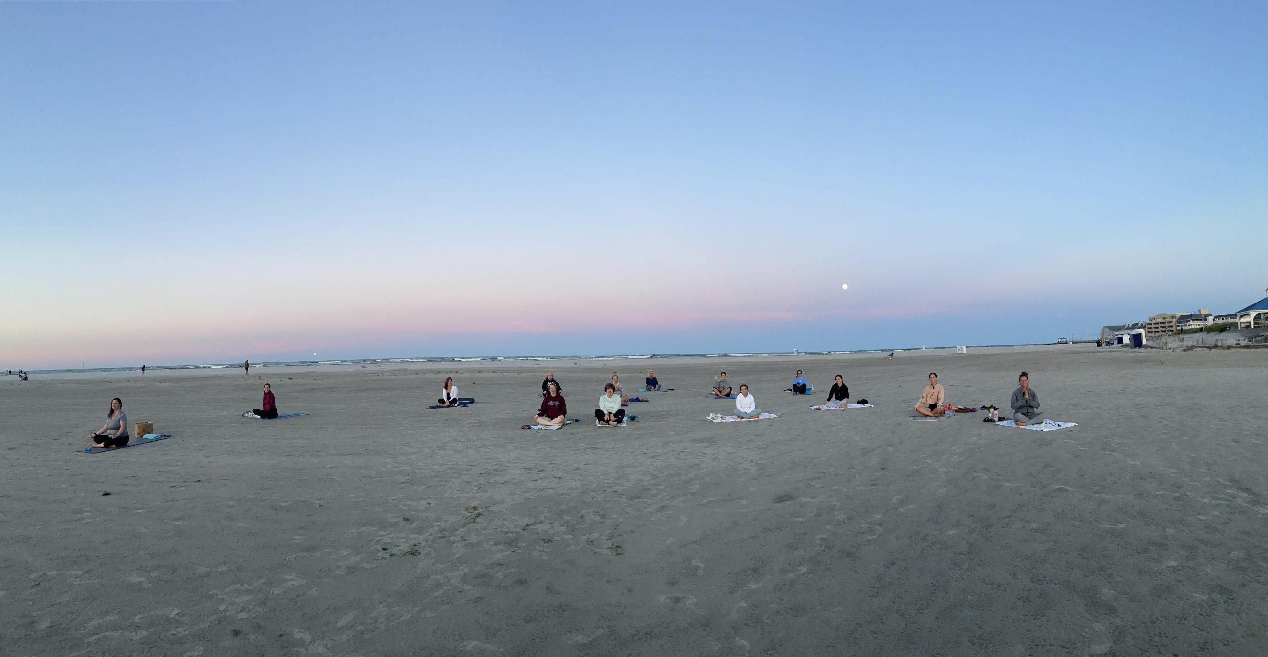 Sunset yoga north wildwood