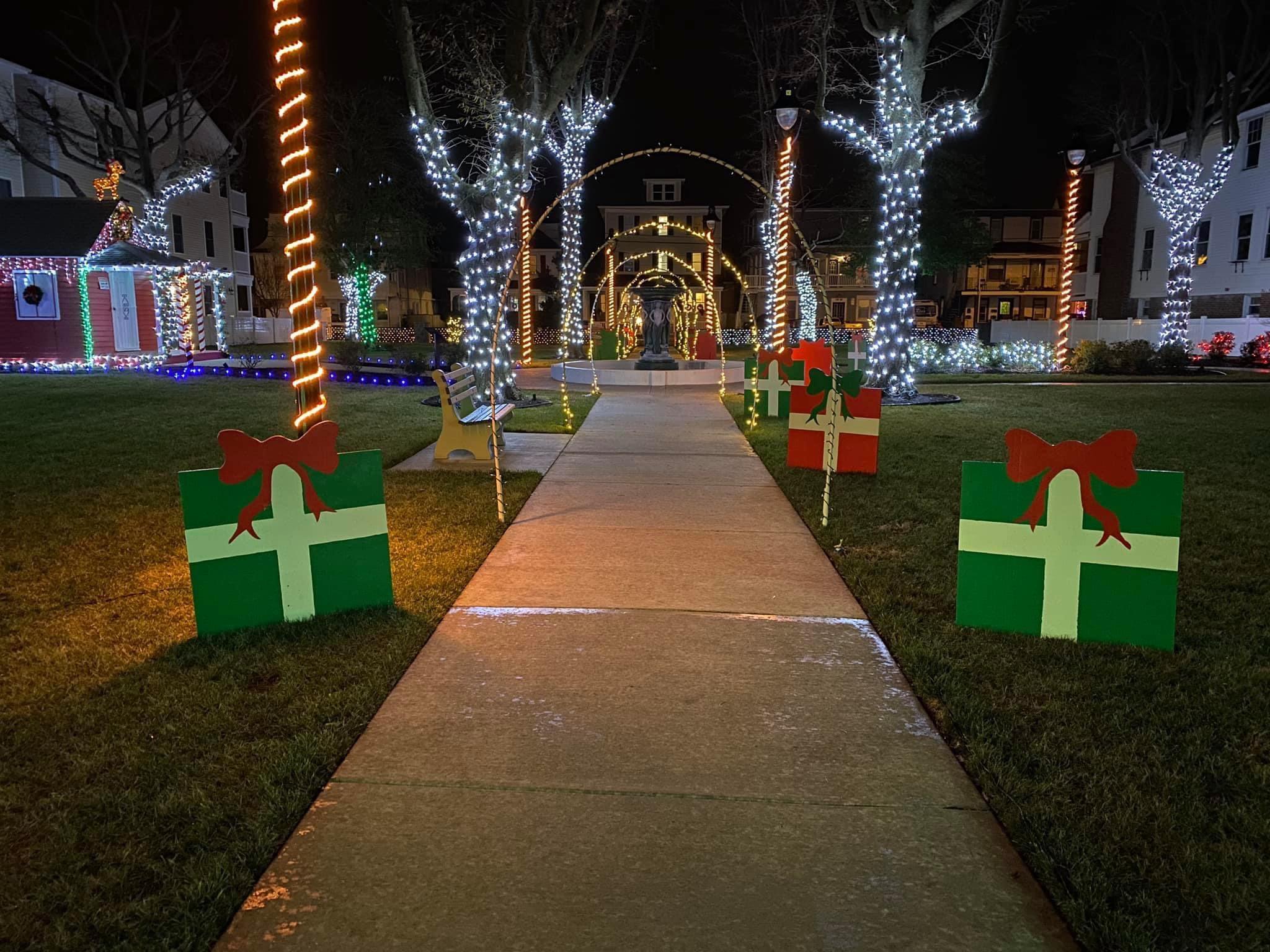 Holly Beach Park Holiday Display